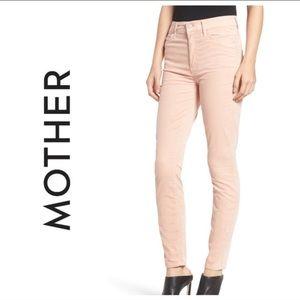 Mother The Looker Velveteen Skinny Pink Jean 28/6